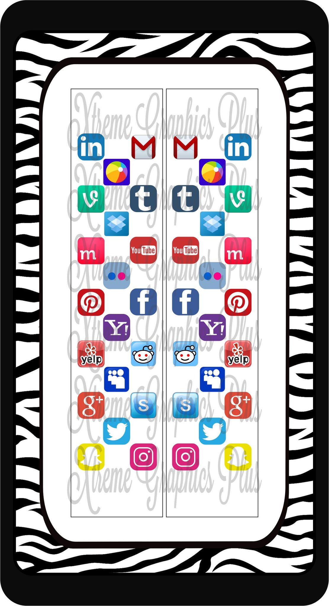 Social Media Sublimation Bow Strips Download