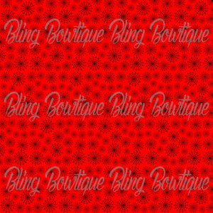 Spiderwebs on Red Glitter Canvas, Regular Canvas, Faux Leather For Bows