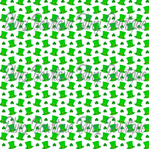 St Patrick's Day 10 Glitter Canvas, Regular Canvas, Faux Leather For Bows