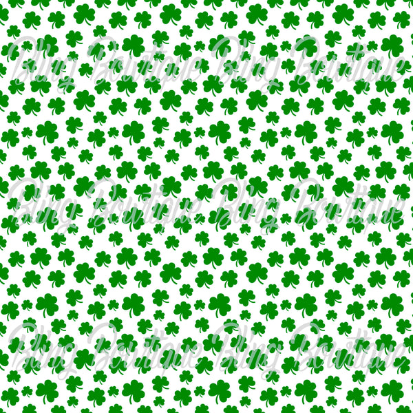 St Patrick's Day 3 Glitter Canvas, Regular Canvas, Faux Leather For Bows