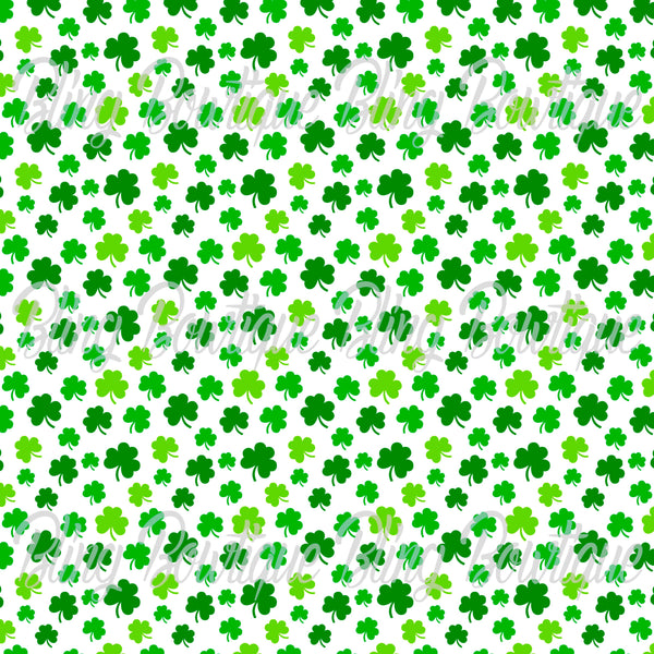 St Patrick's Day 4 Glitter Canvas, Regular Canvas, Faux Leather For Bows