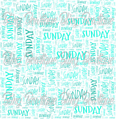 Sunday Collage Printed Glitter Canvas, Regular Canvas, Faux Leather For Bows