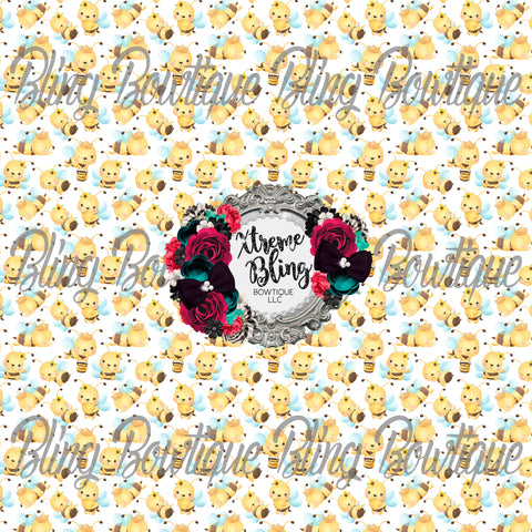 Sweet as Honeybees Glitter Canvas, Regular Canvas, Faux Leather For Bows