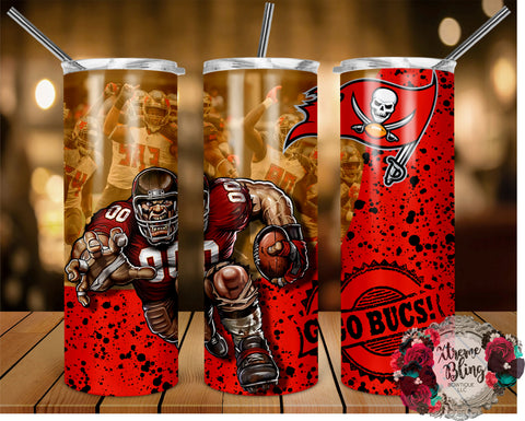 Tampa Bay Buccaneers (C) Ready To Press Sublimation Print for 20oz Straight Skinny Tumbler or 20oz Tapered Skinny Tumbler (W)