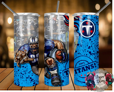 Tennessee Titans (C) Ready To Press Sublimation Print for 20oz Straight Skinny Tumbler or 20oz Tapered Skinny Tumbler (W)
