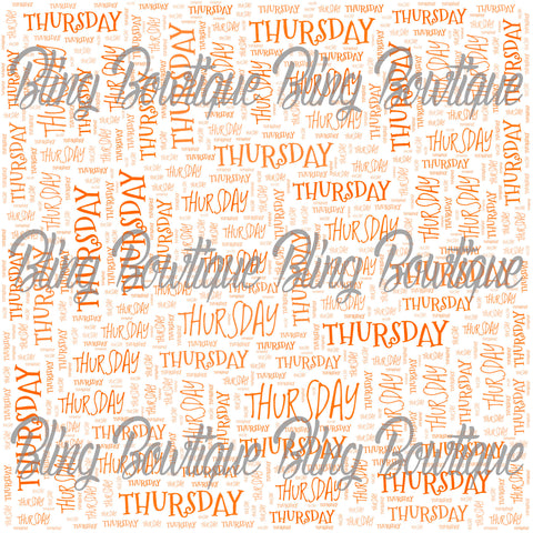 Thursday Collage Printed Glitter Canvas, Regular Canvas, Faux Leather For Bows