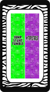 Triple Threat Jump Stunt Tumble Ready to Press Sublimation Bow Strips