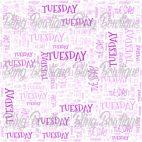 Tuesday Collage Printed Glitter Canvas, Regular Canvas, Faux Leather For Bows