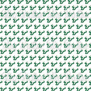 USF Bulls Glitter Canvas, Regular Canvas, Faux Leather For Bows