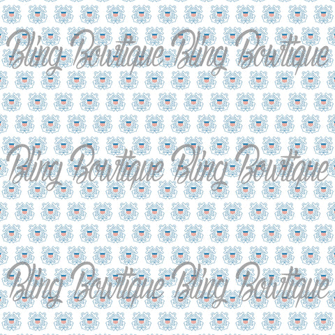US Coast Guard Glitter Canvas, Regular Canvas, Faux Leather For Bows