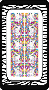 Unicorn Fanatasy Ready to Press Sublimation Bow Strips