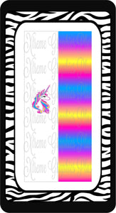 Rainbow Unicorn Sublimation Bow Strips Download
