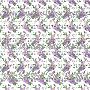Victorian Floral 2 Glitter Canvas, Regular Canvas, Faux Leather