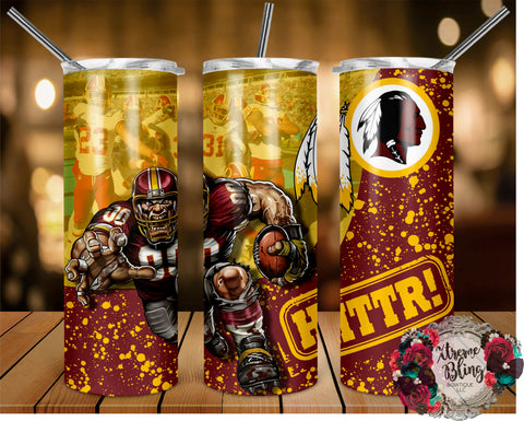 Washington Redskins (C) Ready To Press Sublimation Print for 20oz Straight Skinny Tumbler or 20oz Tapered Skinny Tumbler (W)