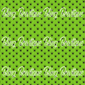 Wicked Set Spiders Printed Glitter Canvas, Regular Canvas, Faux Leather For Bows