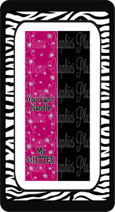 You Can't Handle My Glitter Sublimation Bow Strips Download