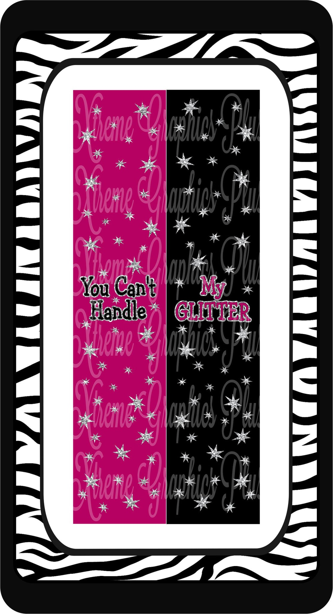 You Cant Handle My Glitter Ready to Press Sublimation Bow Strips