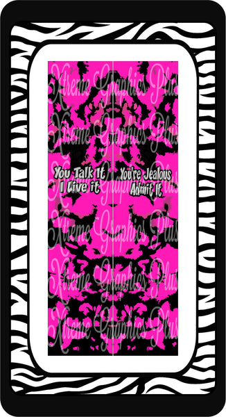 You Talk It I Live It Sublimation Bow Strips Download