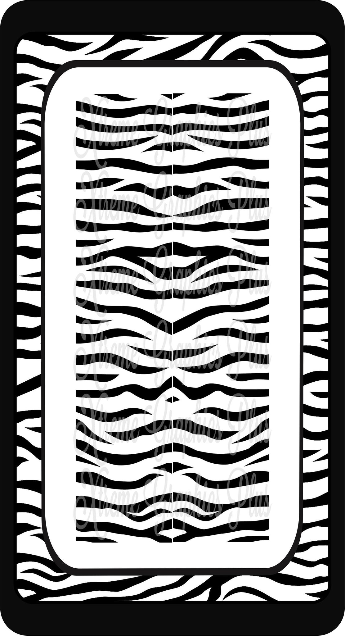Black & White Zebra Sublimation Bow Strips Download