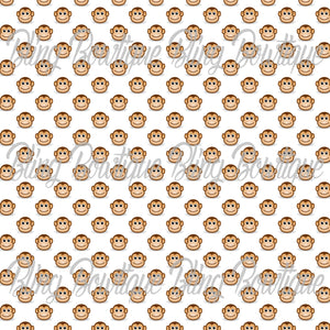 Zoo Monkeys Glitter Canvas, Regular Canvas, Faux Leather For Bows