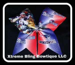 Cheer Bow --Patriots Ron Gronkowski