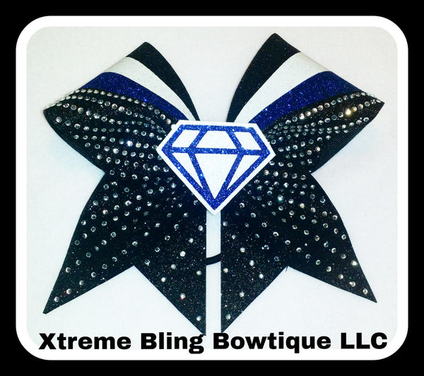 Cheer Bow-Diamond Rhinestone Bling