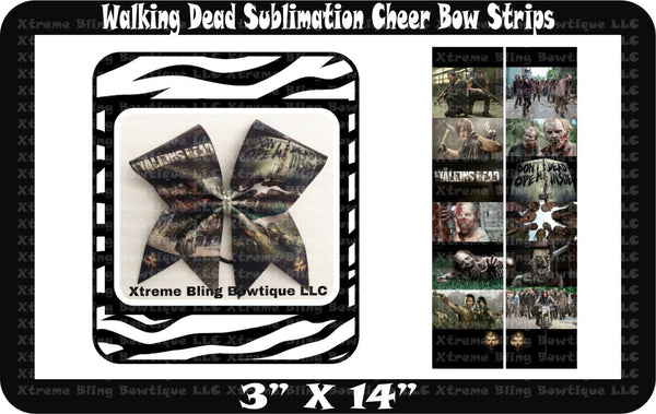 Walking Dead Ready to Press Sublimation Bow Strips