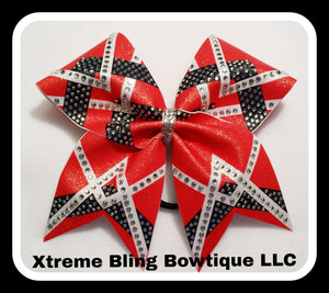 Cheer Bow-V is for Victory Rhinestone Cheer Bow