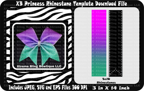 XB Princess Cheer Bow Template Download