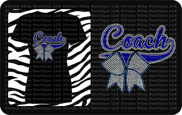 Cheer Coach- Cheer Shirt with Glitter Vinyl and Rhinestones