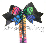 Rainbow Bow Holder/Cheer Bow Holder