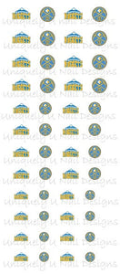 Denver Nuggets Nail Decals