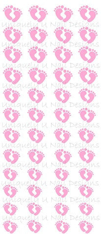 Baby Girl Feet Nail Decals