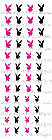 Playboy Bunny Nail Decals