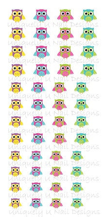 Cute Owl Nail Decals