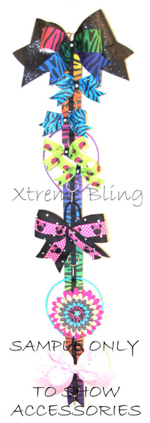 Purple, Green and Blue Dots Cheer Bow/ Hairbow Holder