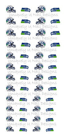 Seattle Seahawks Nail Decals