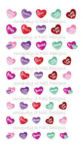 Valentines Day Nail Decals Set 1