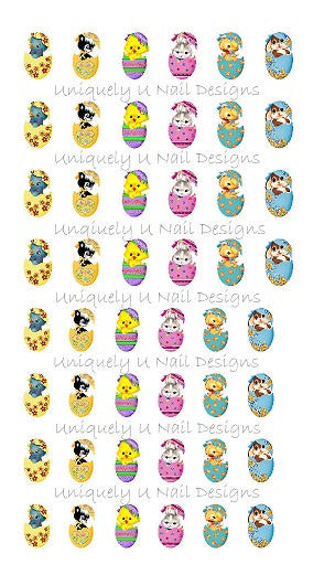Easter Nail Decals Set 2