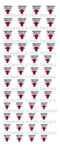 Chicago Bulls Nail Decals