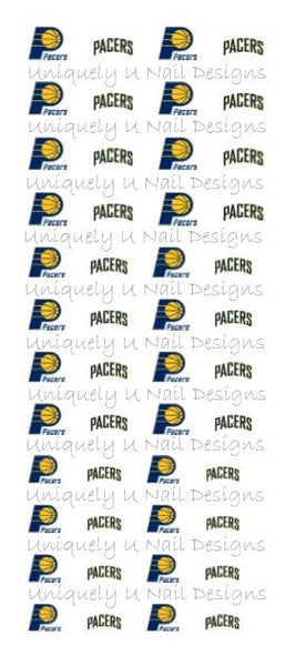 Indiana Pacers Nail Decals
