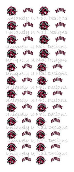 Toronto Raptors Nail Decals