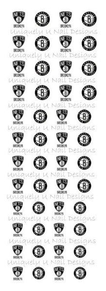 Brooklyn Nets Nail Decals