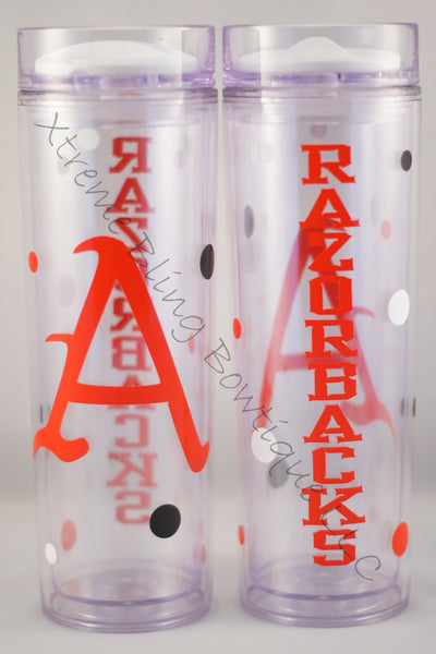 Arkansas Razorbacks 16 oz Double Wall Acrylic Waterbottle