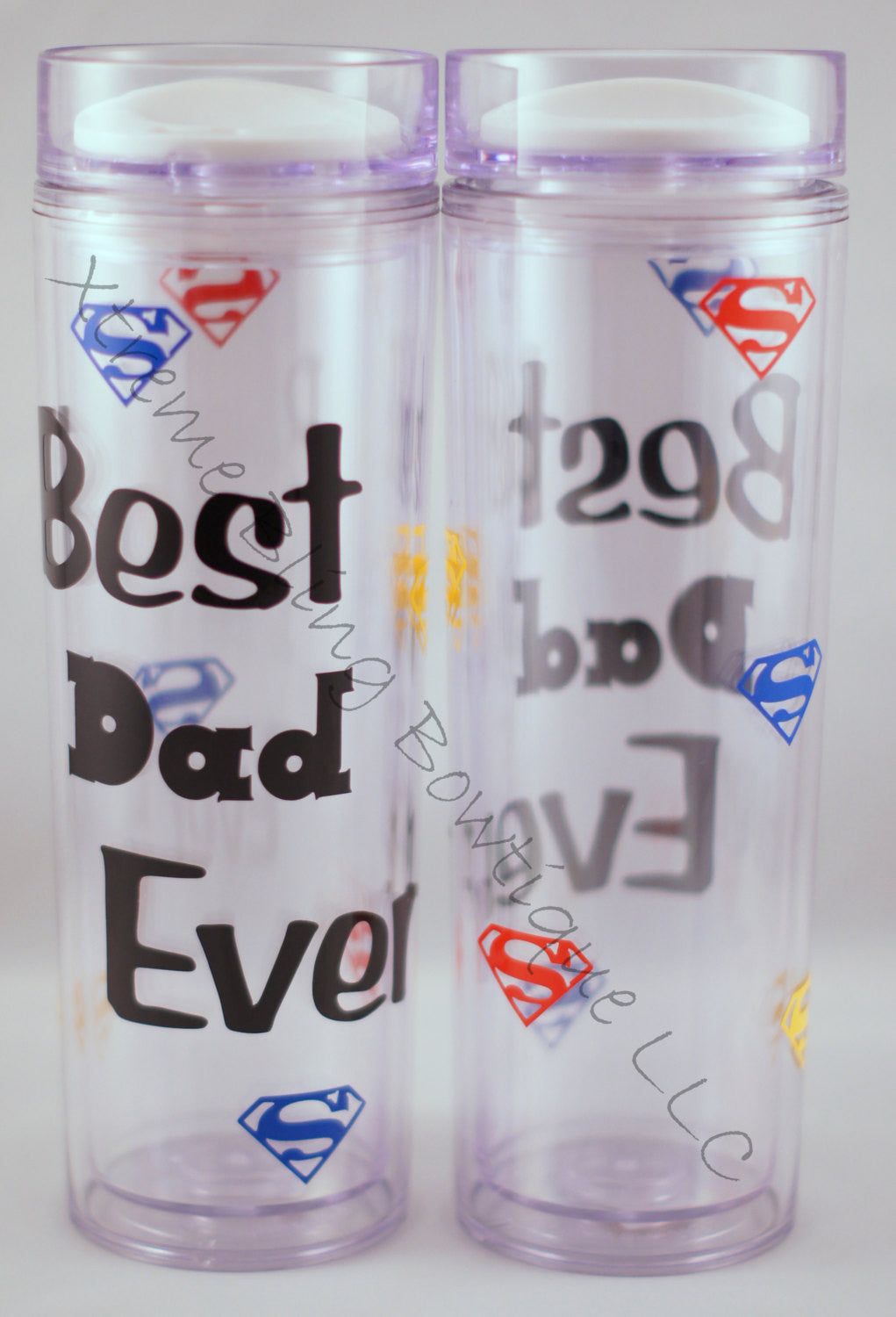 Best Dad Ever 16 oz Double Wall Acrylic Waterbottle