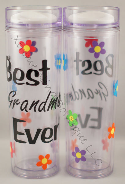 Best Grandma Ever 16 oz Double Wall Acrylic Waterbottle