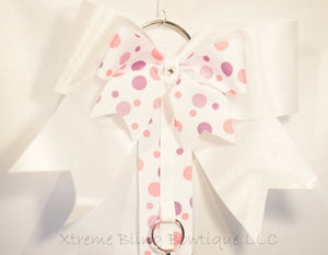 Pink and Purple Dots Cheer Bow/ Hairbow Holder
