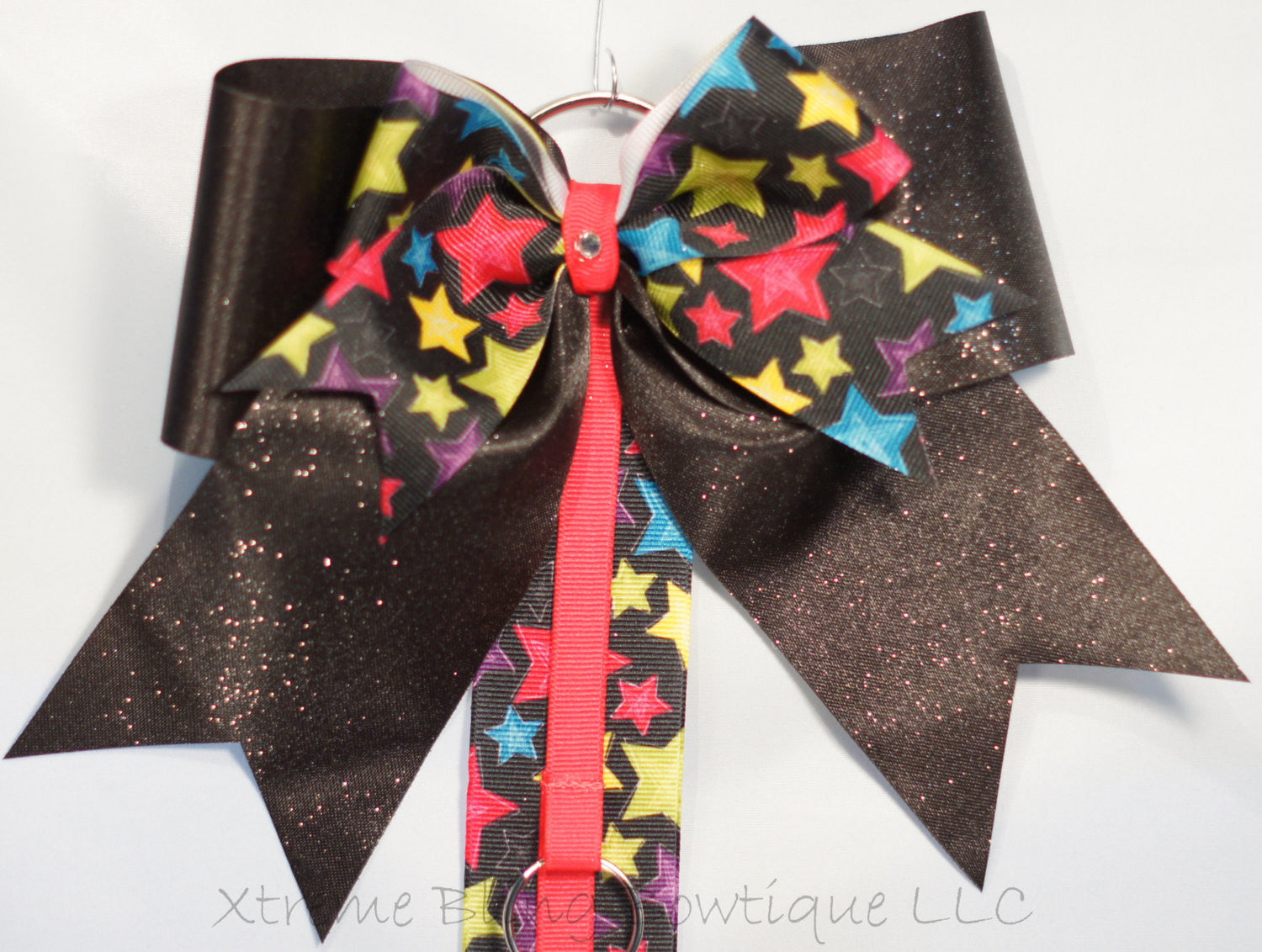 Stars and Black Zebra Cheer Bow/ Hairbow Holder