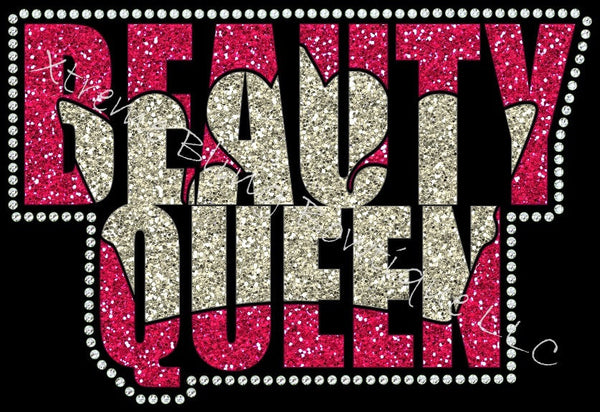 Beauty Queen- Pageant Shirt with Glitter Vinyl and Rhinestones