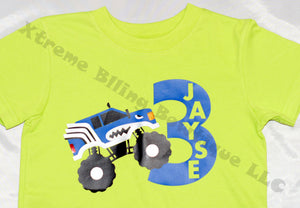 Monster Truck Birthday T-Shirt